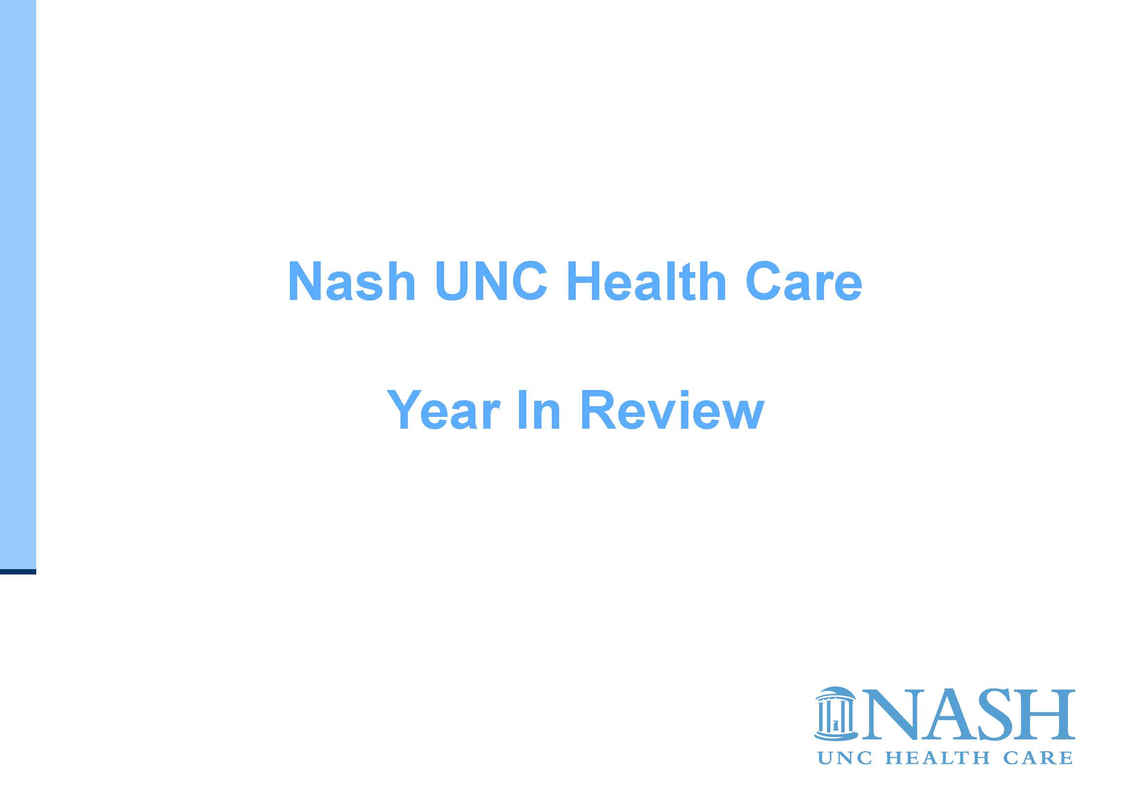 Nash UNC Year In Review