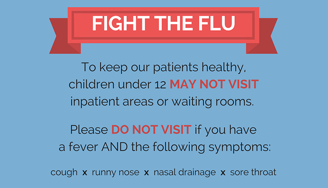 Reminder on how to fight the flu