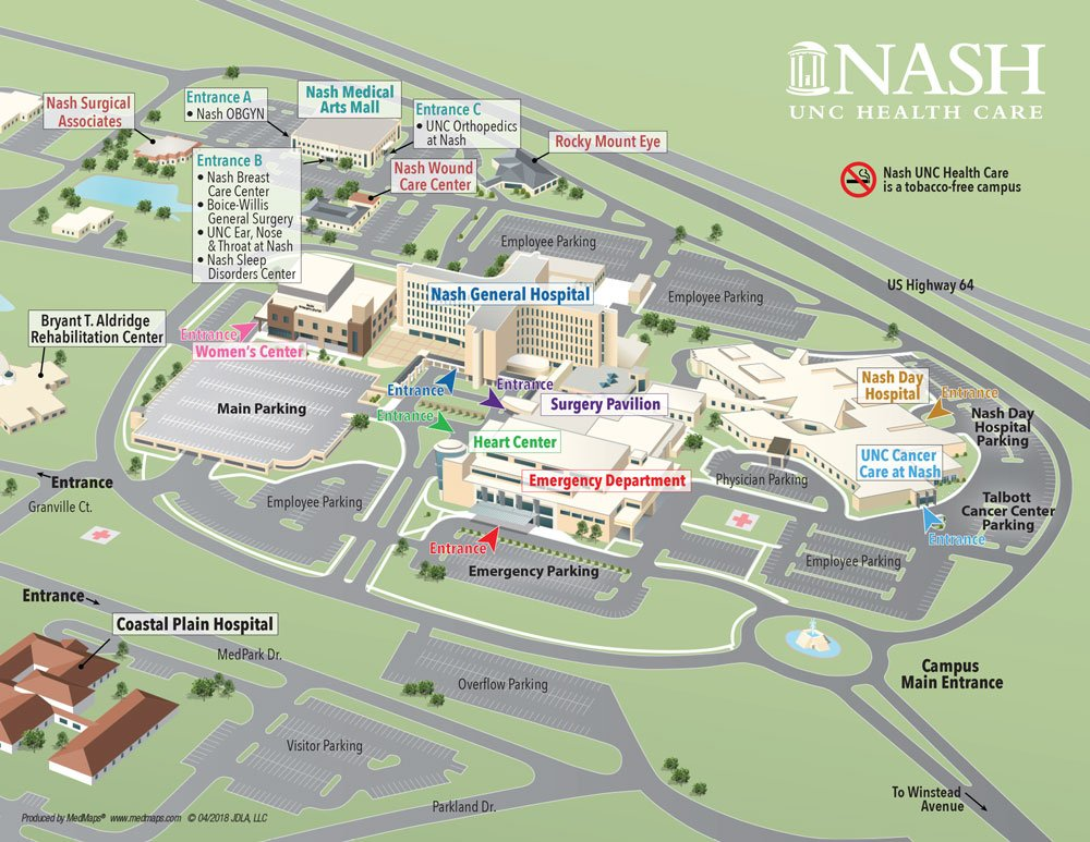 Nash UNC Health Care Campus Map